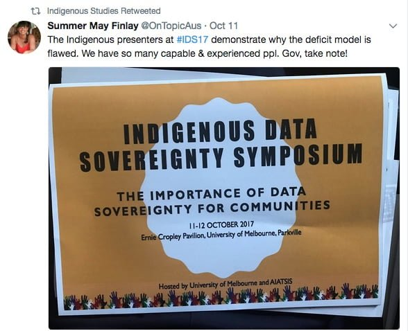 Indigenous Data Sovereignty: More than scholarship, it's a movement