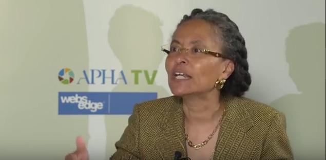 Dr Camara Jones, the new president of the APHA