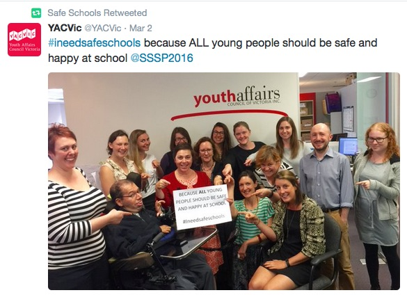 """""""...ALL young people should be safe and happy at school"""""""