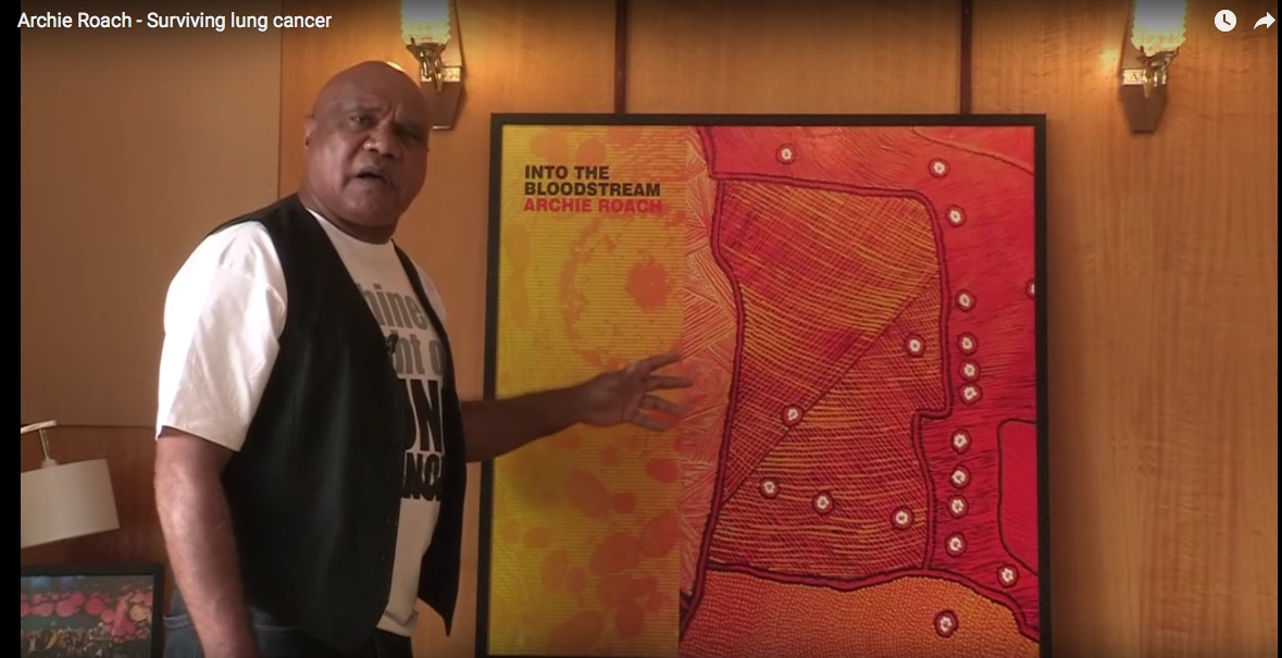 This is an image from a clip with singer-songwriter Archie Roach
