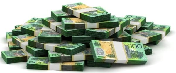 Stack of Australian Dollar