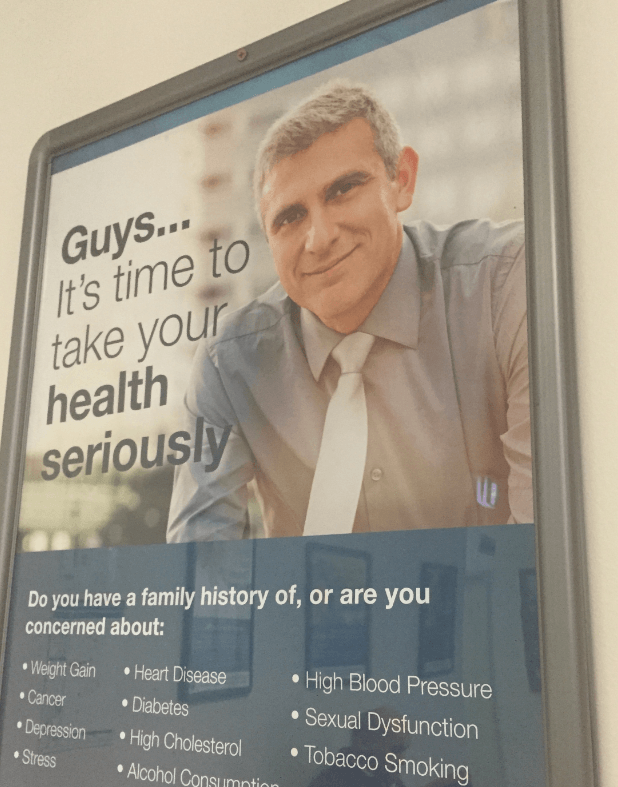 A poster at a local GP's clinic