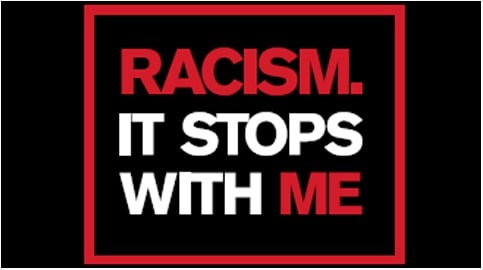 Image from Racism Stops With Me campaign