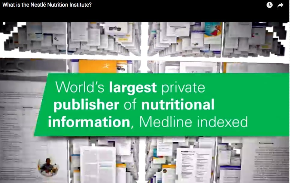 The Nestlé Nutrition Institute: the world's largest private publisher of nutritional information