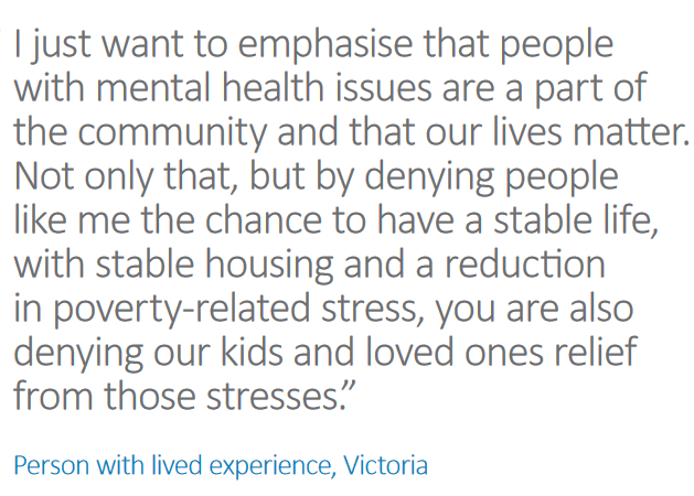 Image taken from the Summary of the 2015 National Review of Mental Health  Programmes and Services.