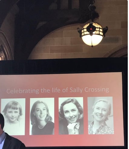 From Sally's memorial service - Photos courtesy of Julie McCrossin
