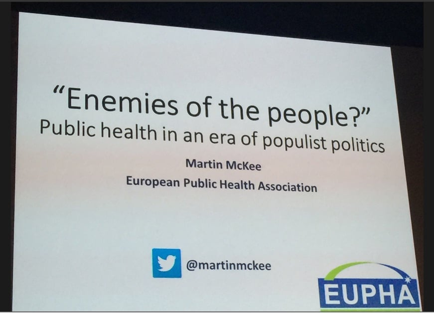 In the wake of political disruption in France, this was a prescient  presentation at the recent World Congress on Public Health