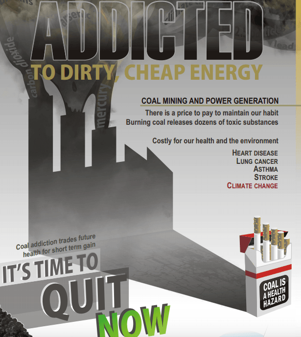 Poster published by Doctors for the Environment Australia