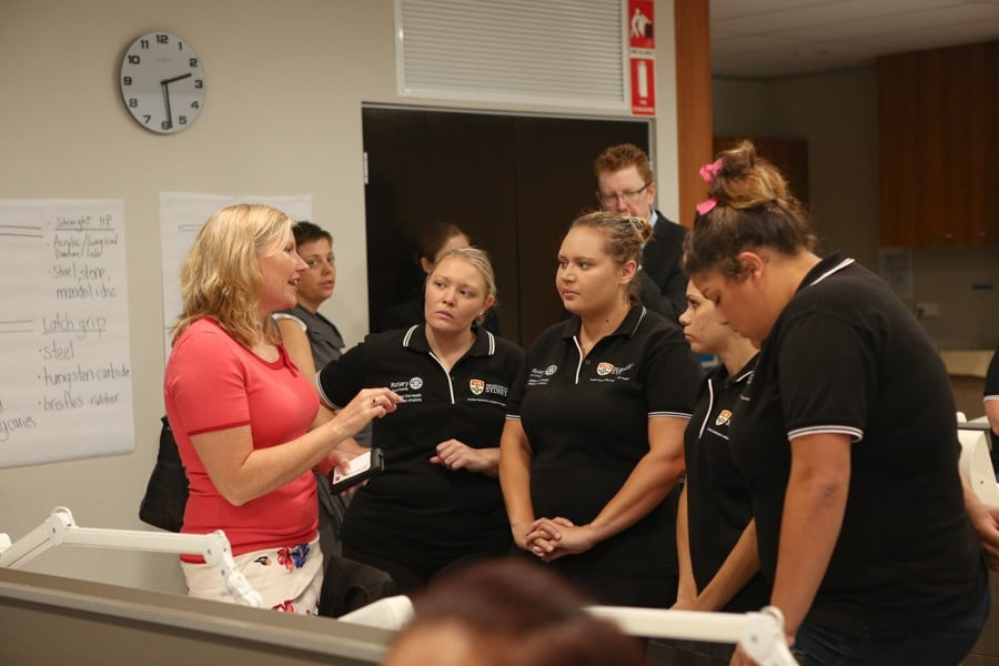 Cathryn Forsyth with Poche Centre for Indigenous Health Dental Scholars