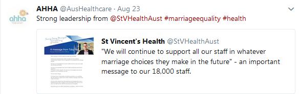 St Vincent's Health reassures staff following Catholic Church LGBTQI workforce warning