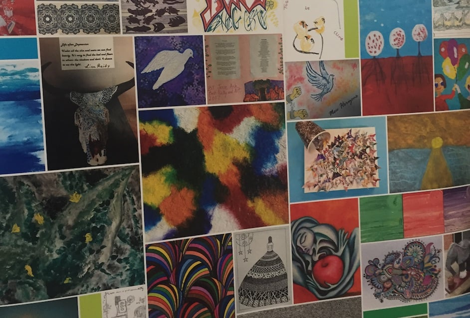 Image from a display: Artwork from the Mind community