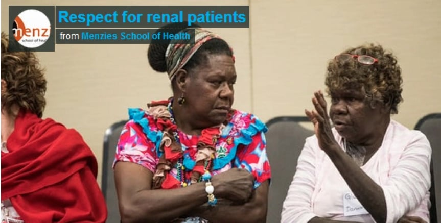 Image from a video produced for the Indigenous Patient Voices project/report – filmed by Vicki Kerrigan