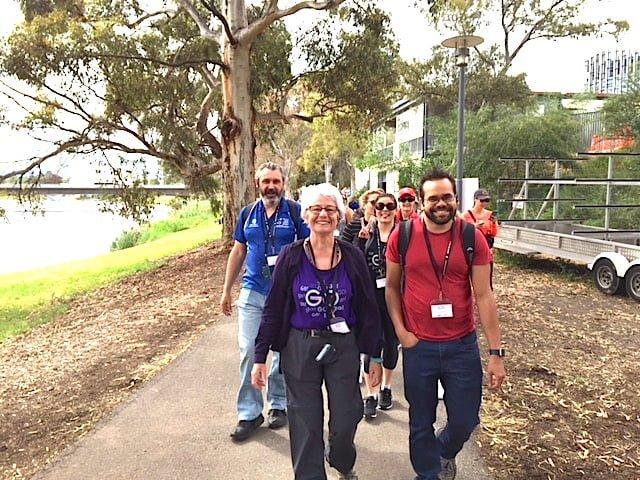 What can a walk along Karrawirra Parri teach us about health? #CroakeyGO reports...