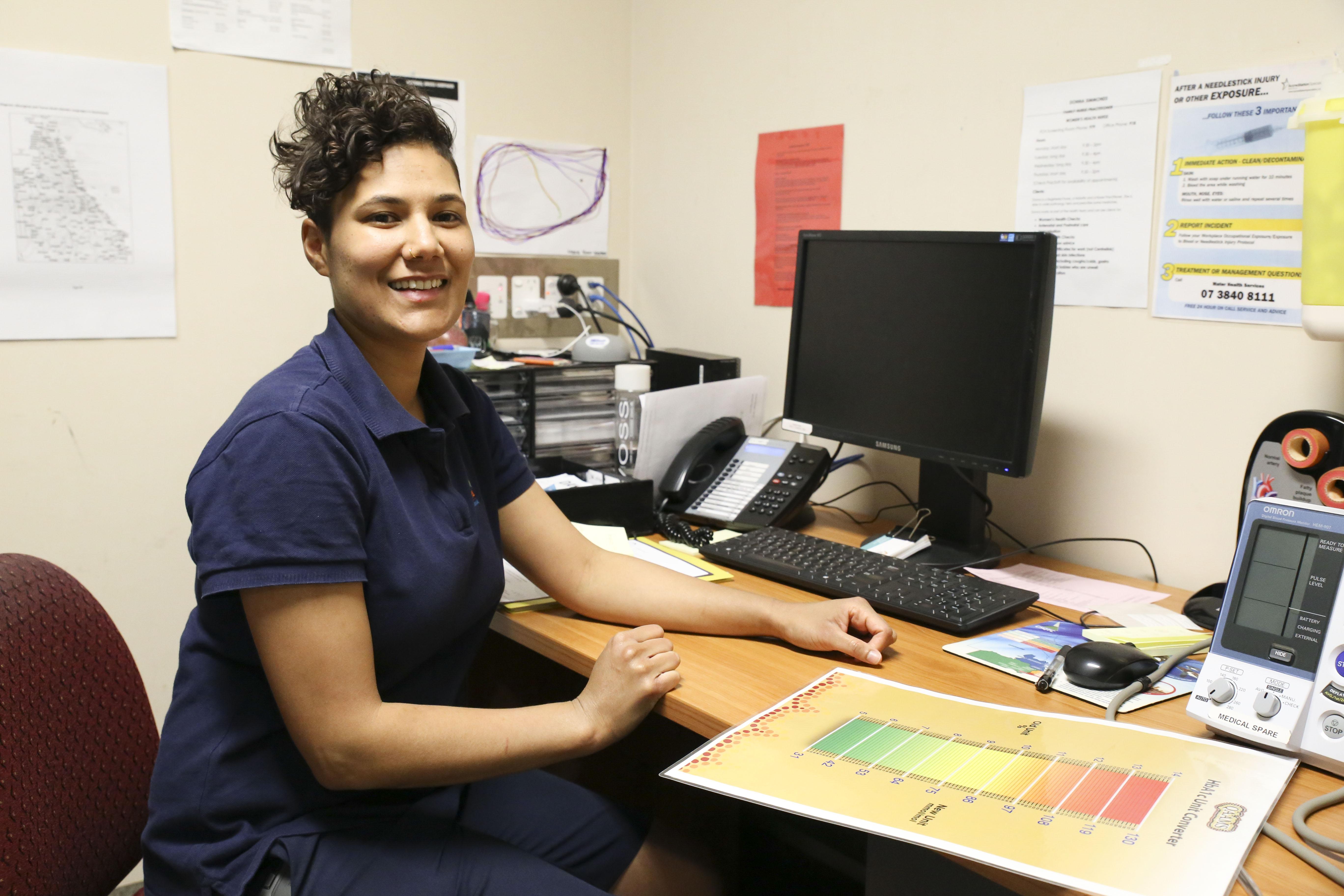 NATSIHWA member: Tereina Kimo – an Aboriginal Health Worker at ATSICHS Brisbane. Photograph supplied by NATSIHWA