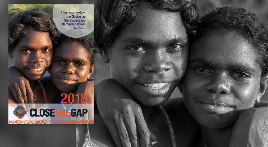 Cover image from the Close the Gap campaign's 10-year review of the Closing the Gap Strategy.