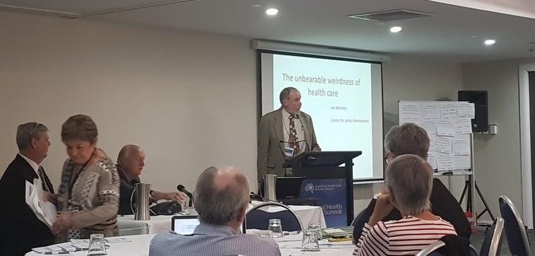 Scene setter for health reform discussions. Credit: Catholic Health Australia