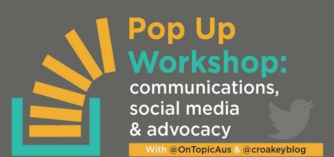 It's our first Pop Up Workshop! All about communications, social media & advocacy