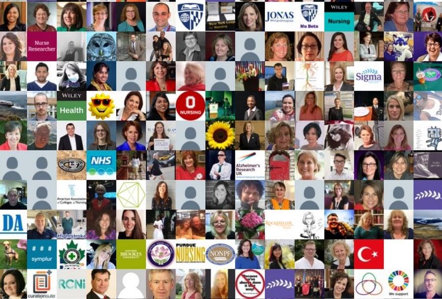 Some of the nurses active on Twitter at #INRC18. Source: Tweet by @Julie_J_Adams