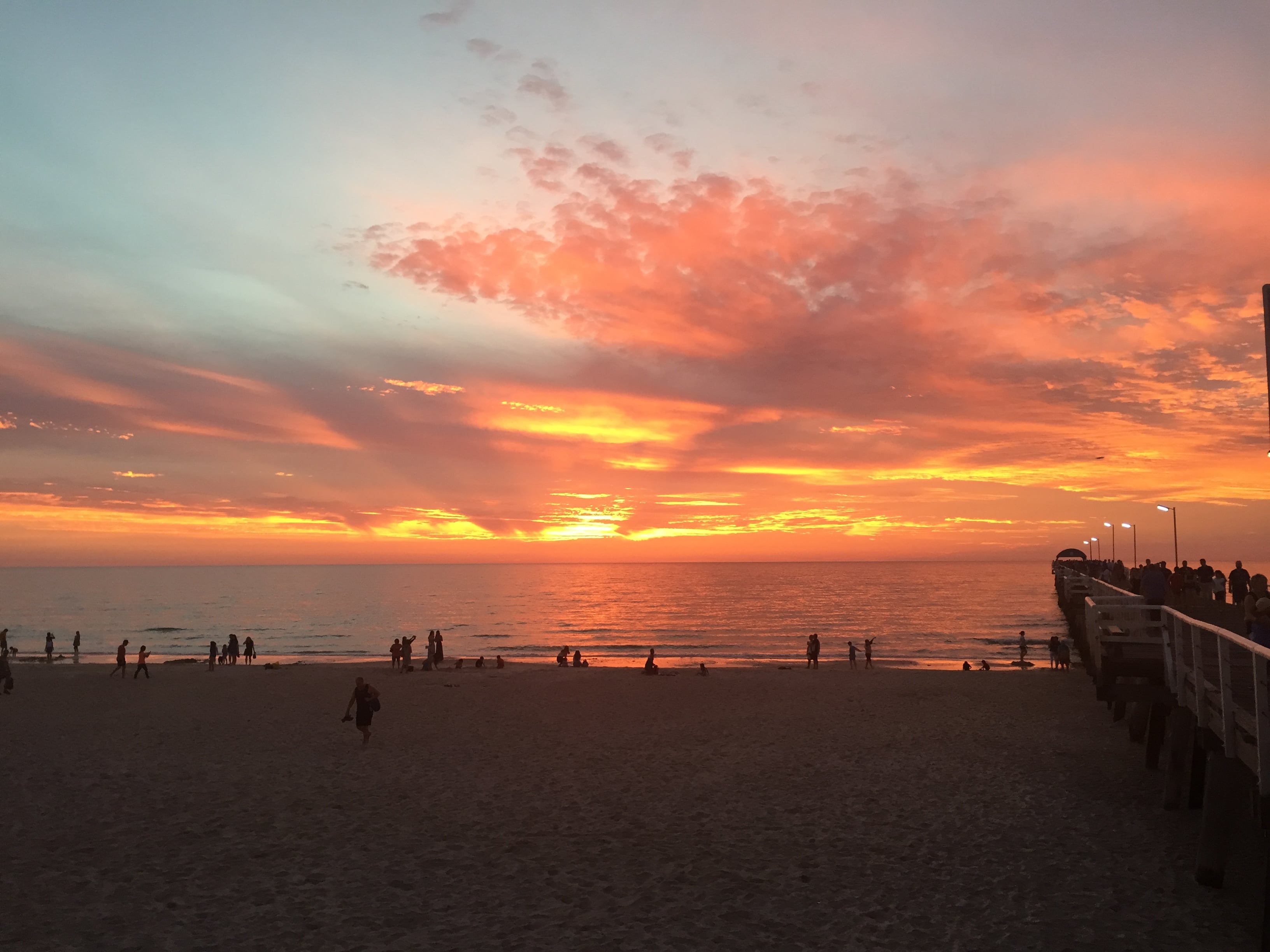 Red sky at night at Adelaide's Henley Beach but delight at Health and Wellbeing Minister's commitments on public health still on hold