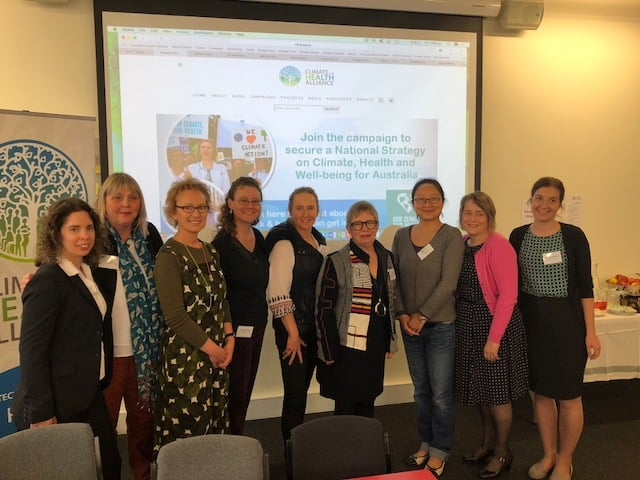 Climate and Health Alliance directors at the recent symposium, with new president, Amanda Adrian