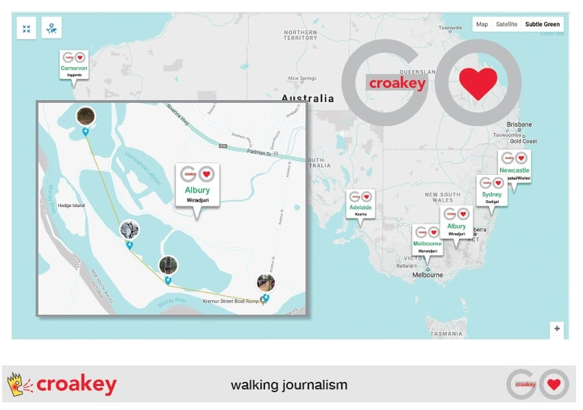 Prototype of an online mapping tool for #CroakeyGO