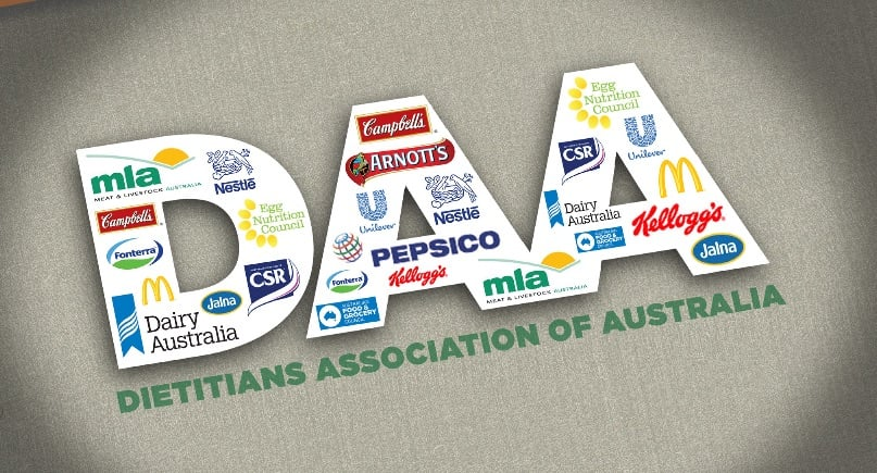 Detail from cover of a 2015 report raising concerns about relationships between the Dietitians Association of Australia and the food industry