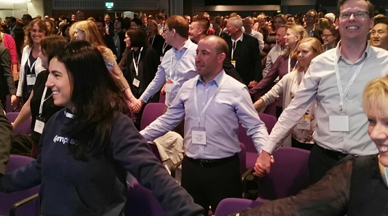 #ISPAH2018 began with movement and energy. Photo by Bill Bellew, & tweeted for @WePublicHealth.