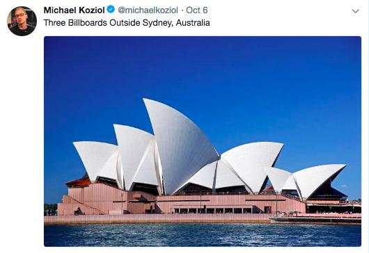Tweet by Sydney Morning Herald political reporter Michael Koziol
