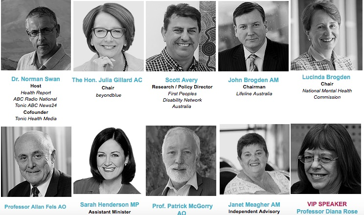 Speakers at the #NDISMentalHealth conference this week