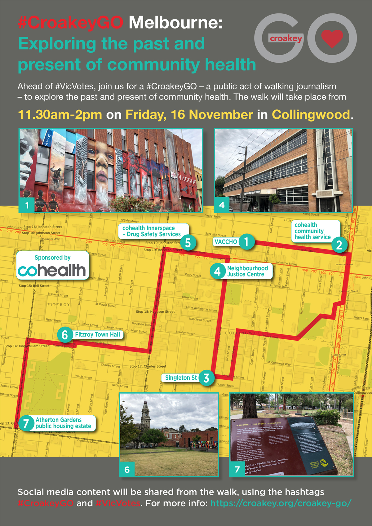 Please join us on a #CroakeyGO in Melbourne for #VicVotes focus on health