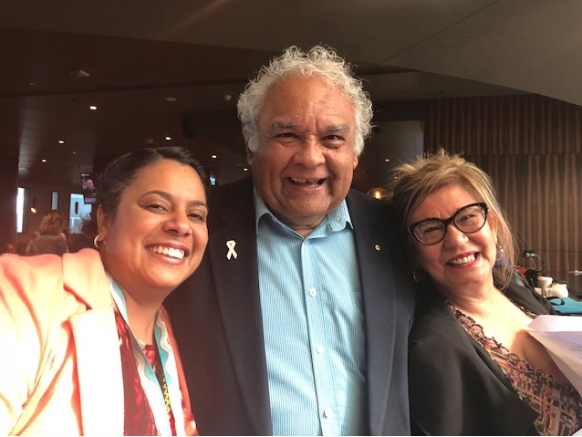 Making recommendations for the future: NT Labor politician Ngaree Ah Kit, together with Prof Tom Calma AO and Professor Pat Dudgeon. Photograph by Marie McInerney