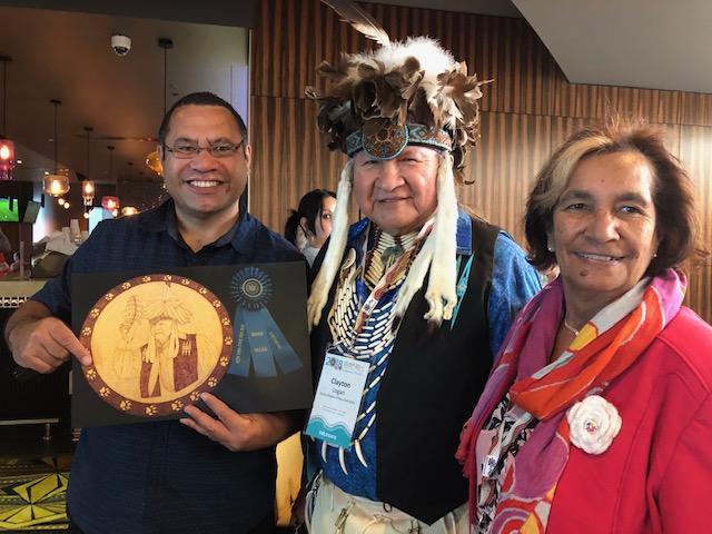 L-R: Maori suicide prevention expert Michael Naera, Clayton Logan from the Seneca Nation in the US, and Nyoongar Elder Aunty Liz Hayden