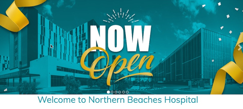 Glossing over concerns? The Northern Beaches Hospital website