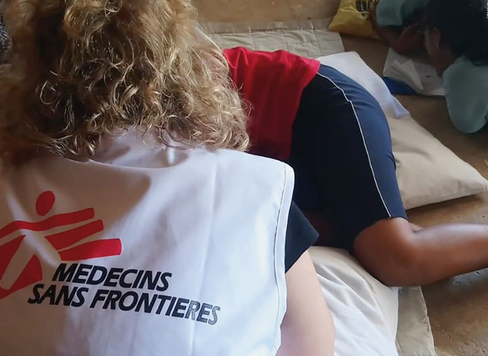 Image from the report: Indefinite Despair: The tragic mental health consequences of offshore processing on Nauru published in December 2018 by Médecins Sans Frontières