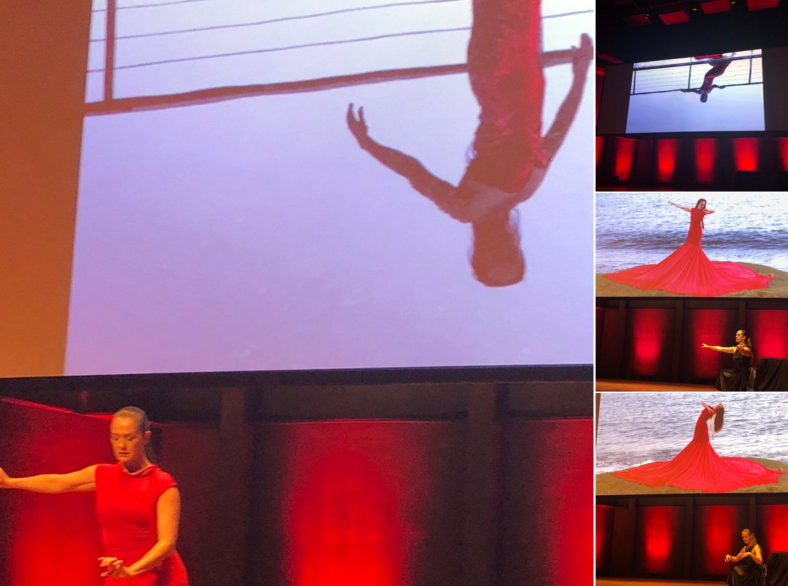 """Many stunning performances at the conference, including """"Red"""" by Liz Lea, about endometriosis.  Photographs by Melissa Sweet"""