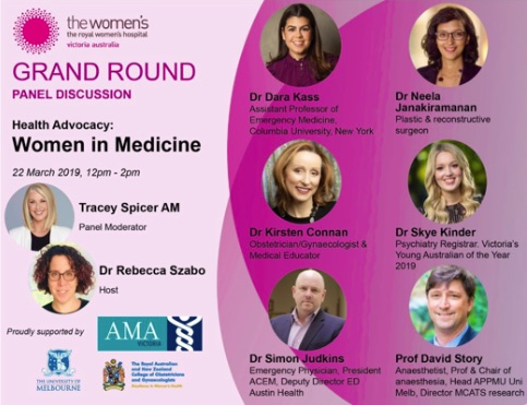 Follow #HealthAdvocacyWIM for news from women in medicine panel