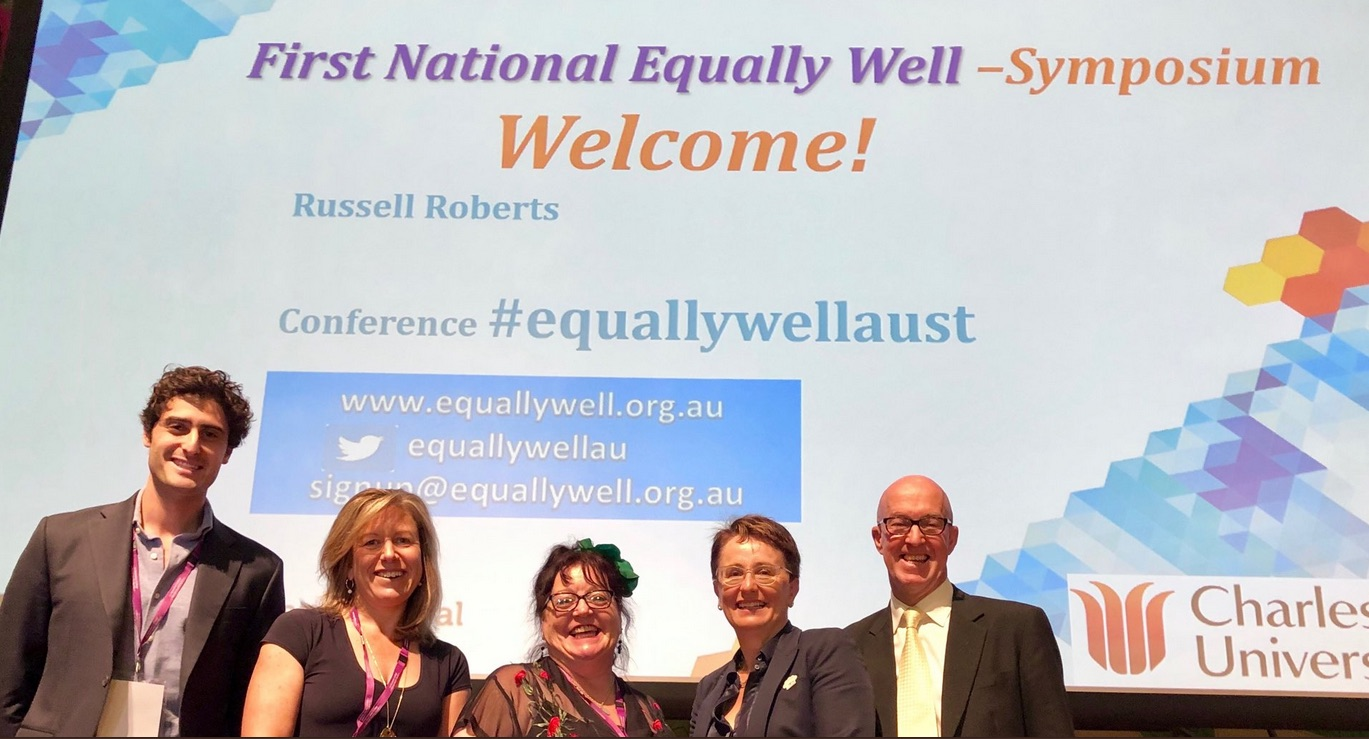 Caro Swanson and Helen Lockett (3rd and 4th from R), together with other conference speakers