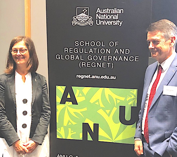 Professor Sharon Friel and Martin Fletcher at the launch