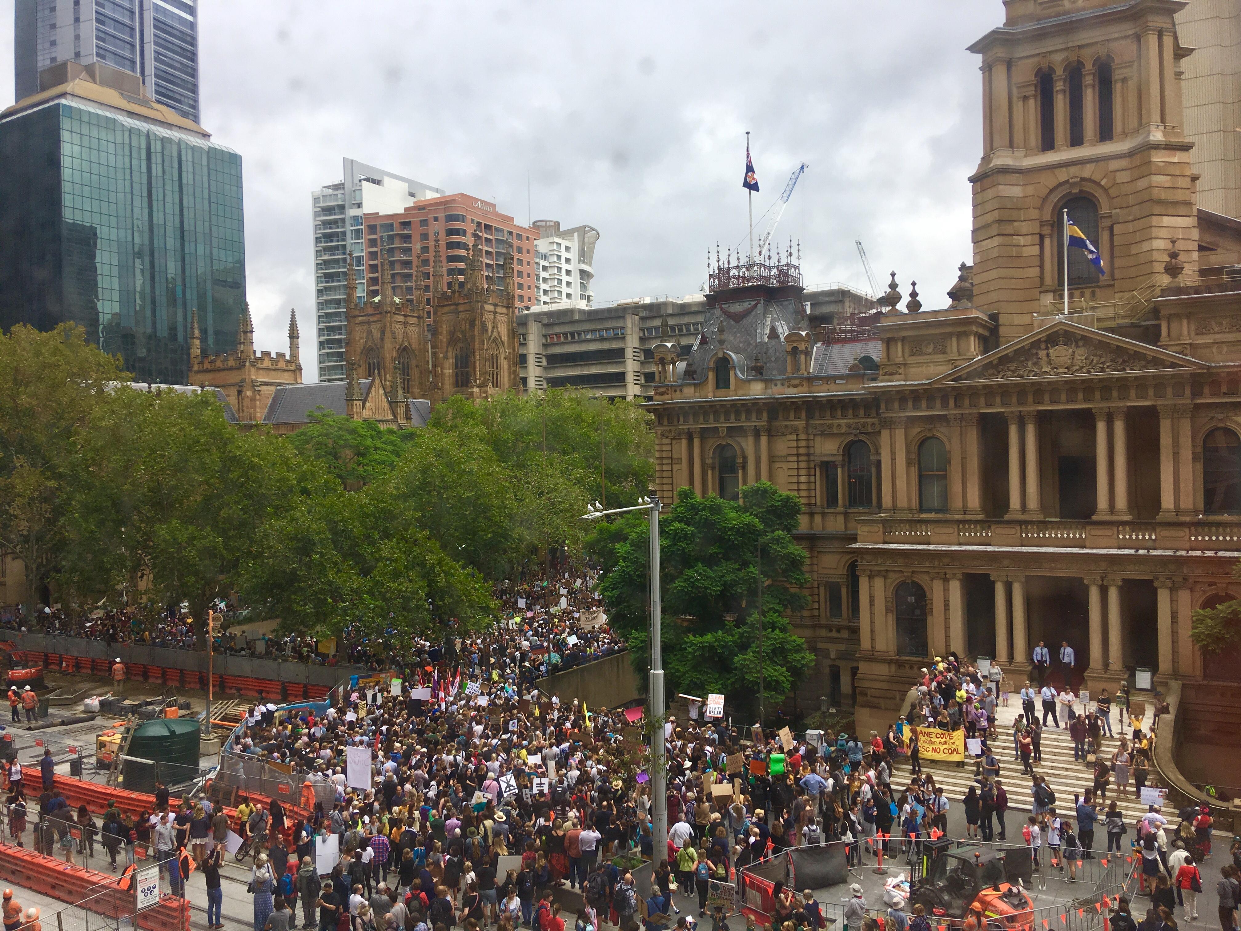 School strike for climate change, Sydney, March 2019