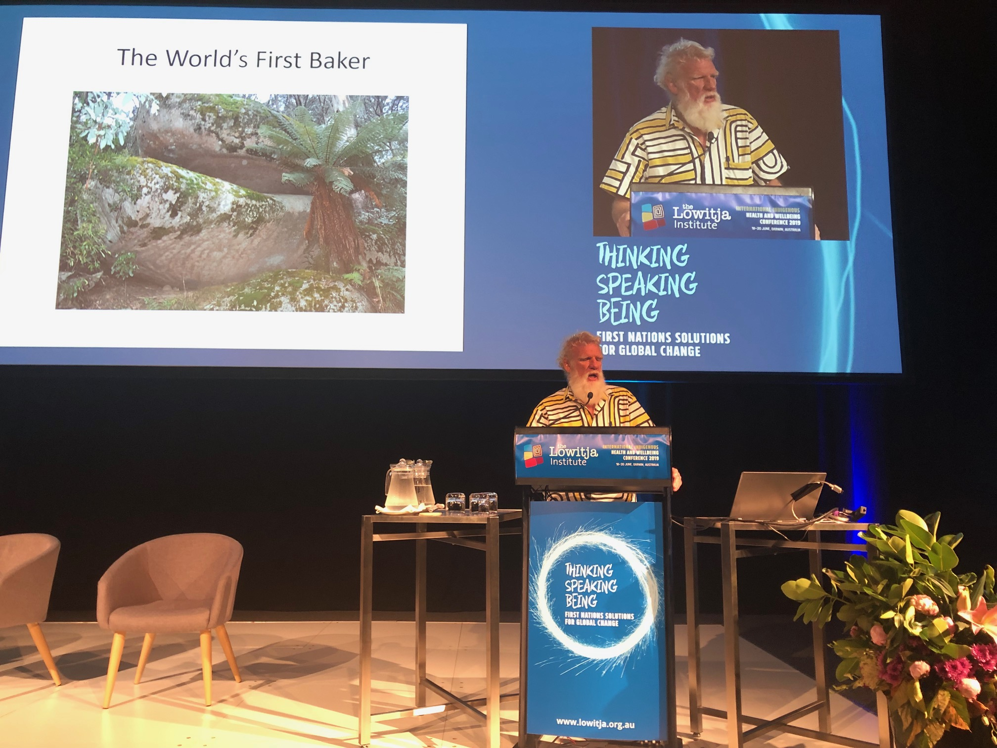 Bruce Pascoe at #LowitjaConf2019. Photo by Marie McInerney