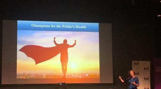Looking everywhere for champions: Dr Corinne Graffunder. Image via @hannahpierce01