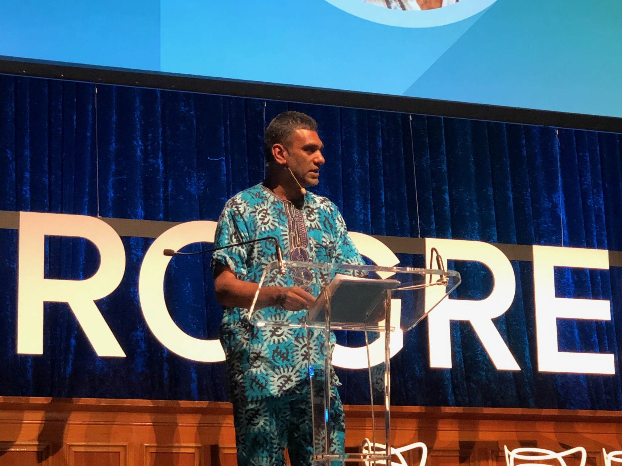 Dr Kumi Naidoo calls for moral courage and civil disobedience. Photograph by Mitchell Ward