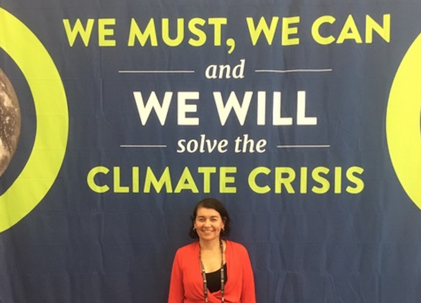 The author at Climate Reality training