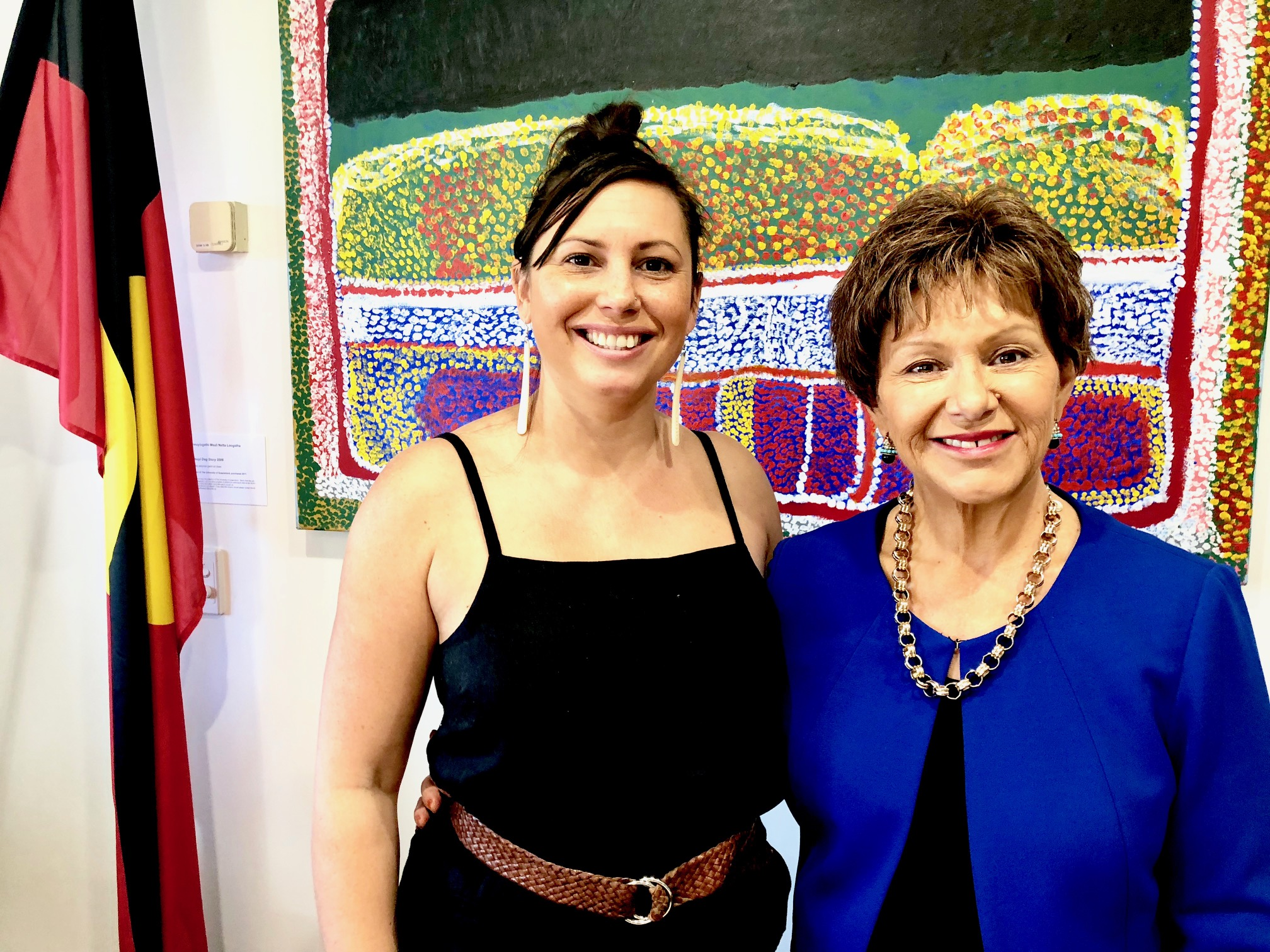 Presenting a long term vision for reform: Professor Bronwyn Fredericks (R) speaks with Summer May Finlay