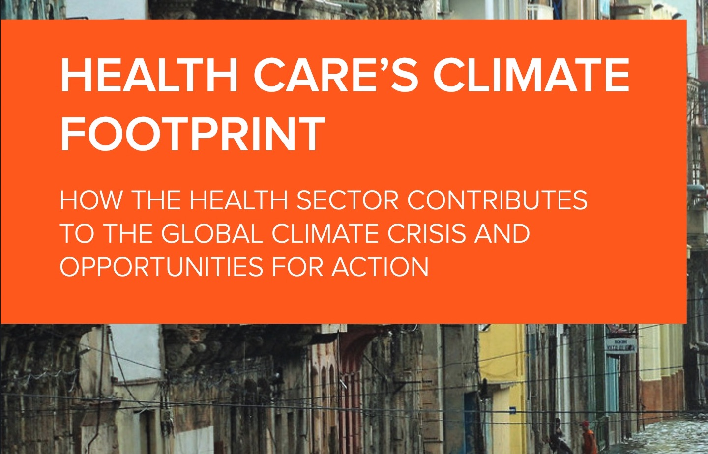 #CoveringClimateNow - healthcare sector urged to step up