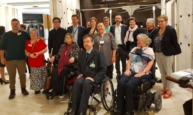 Australia's delegation to the UN review: photo supplied by Disabled People's Organisations Australia (DPO Australia)
