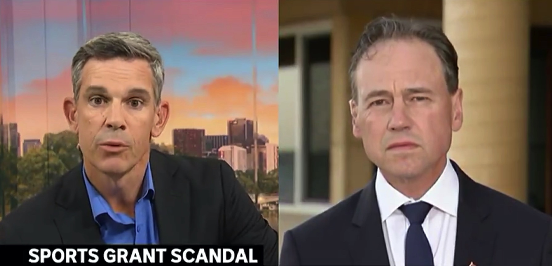 Journalist Paul Kennedy interviews Health Minister Greg Hunt