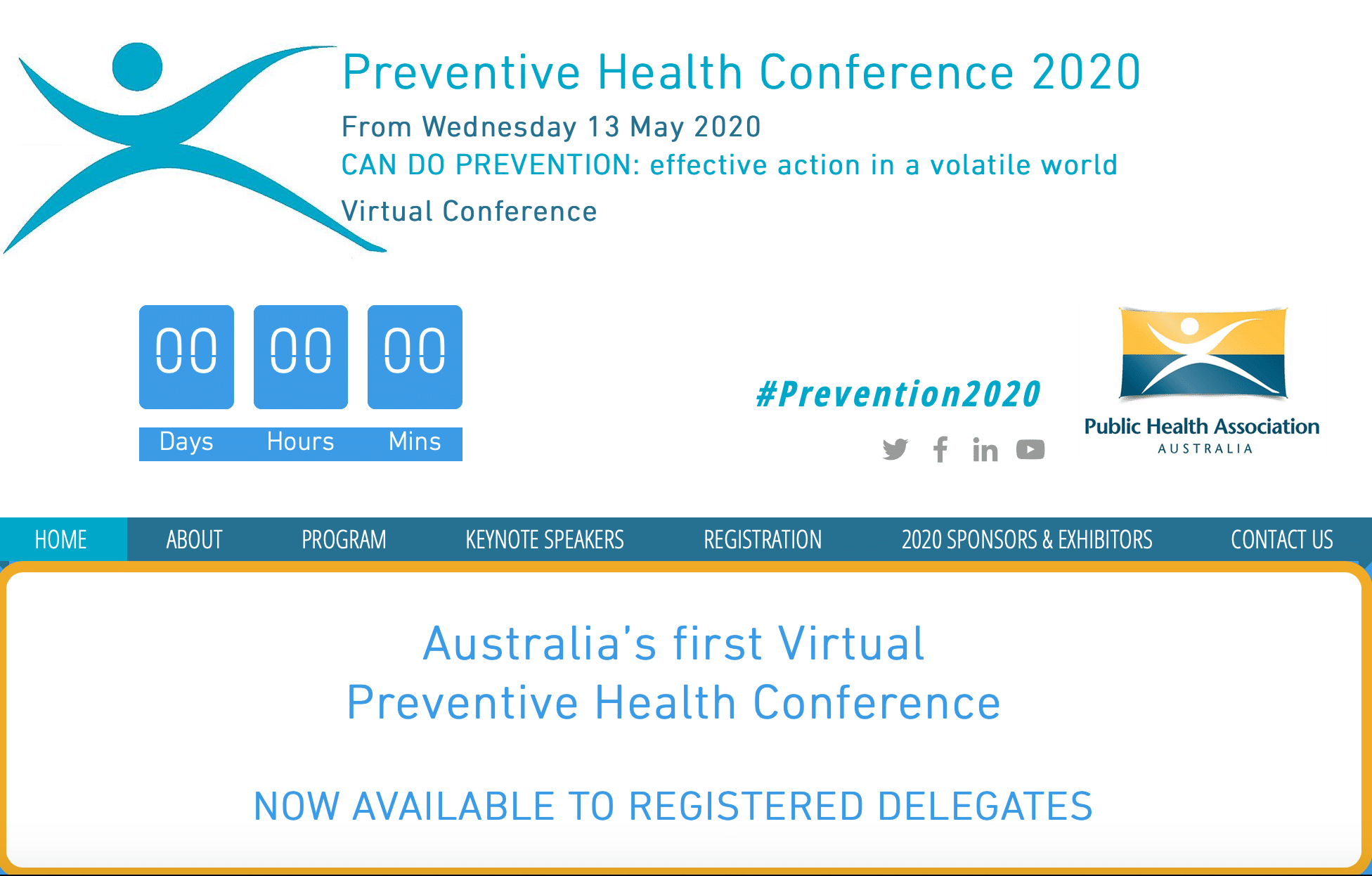 #Prevention2020 virtual conference @WePublicHealth