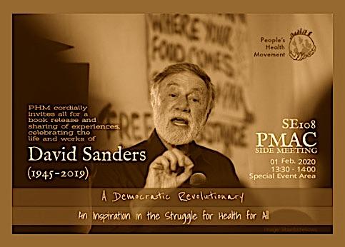 Professor David Sanders: activist academic speaking truth to power