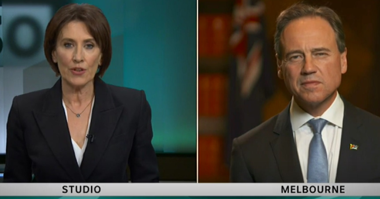 A question by Virginia Trioli prompted the Health Minister's attack
